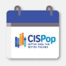 A calendar showing the CISPop logo