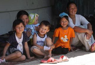 A family in Kyrgyzstan