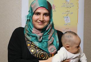 Syrian midwife Shatha Al Mostafa