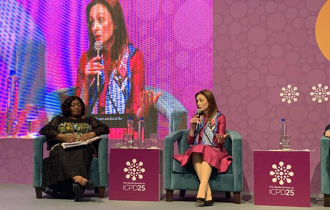 Elizabeta Gjorgievska First Lady of North Macedonia, speaks at the Nairobi Summit