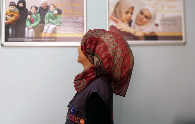 Rima, a Syrian refugee now working as a health mediator in Turkey