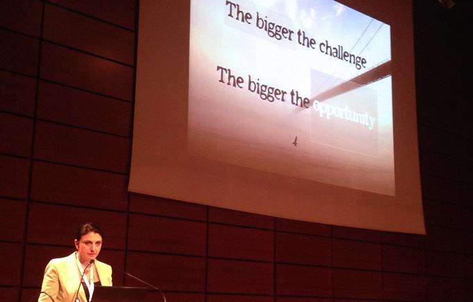 UNFPA's Tamar Khomasuridze speaking at the standards launch