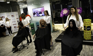 Graduates from the L'Oreal-UNFPA hairdressing course in Ukraine