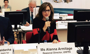 UNFPA Regional Director Alanna Armitage speaks at the 66th session of the WHO Regional Committee for Europe.