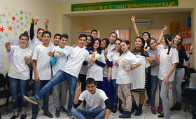 Y-PEER volunteers in Turkmenistan