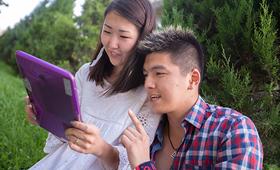 Young people in Bishkek