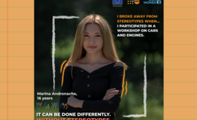 In Moldova, young people like Marina Andronache, 16, met to discuss the gender stereotypes they have faced. Photo: UNFPA Moldova.