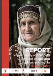 Cover of publication shows an older woman with title